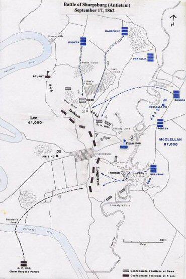 Sources National Park Service Antietam Unit Placement William J Clipson Cartography